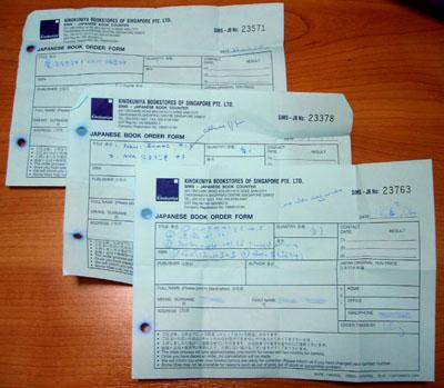 Order slips